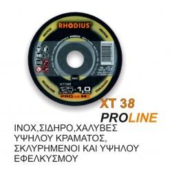 ΤΡΟΧΟΙ RHODIUS ΧΤ38/115Χ1 INOX